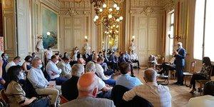 Alain Griset, ministre délégué chargé des PME, à Montpellier le 28 août 2020