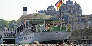 Allemagne, sécheresse, Elbe, rivière asséchée, Dresde,