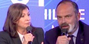 Anne Hidalgo et Edouard Philippe lors du Sommet du Grand Paris, le 29 septembre 2020