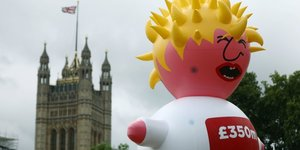 Boris Johnson ballon Brexit