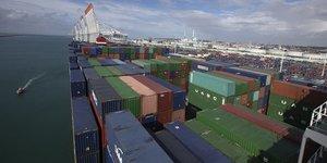 Containers, conteneurs, Le Havre, commerce extErieur, dEficit, France, fret maritime, transport de marchandises,