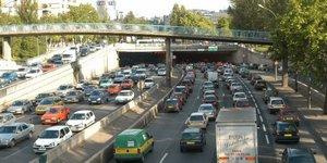Embouteillages sur le périphérique