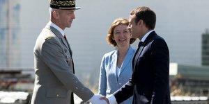 gEnEral FranCois Lecointre, chef d& 39 Etat-major des armEes, Florence Parly, ministre des ArmEes, Emmanuel Macron, prEsident de la REpublique
