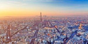 H319 Vue aérienne ville de Paris