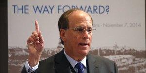 Larry Fink, CEO du gestionnaire d'actifs BlackRock