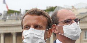 Le masque obligatoire dans les lieux publics clos le 1er aout, dit macron