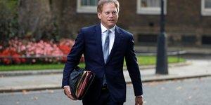 Le ministre britannique des transports Grant Shapps, le 15 septembre 2020 A Downing Street A Londres, en Grande-Bretagne.