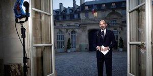 Le premier ministre Edouard Philippe à l'Hôtel Matignon, le 6 décembre 2019