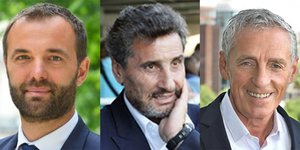 Les candidats aux municipales de Montpellier : Delafosse, Altrad et Saurel