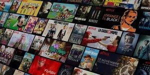 Netflix, mosaïque, séries télé, TV,