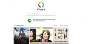 Page d'accueil de Qwant