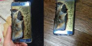 Samsung Galaxy Note 7 dont la batterie a explosé. Via Baidu.